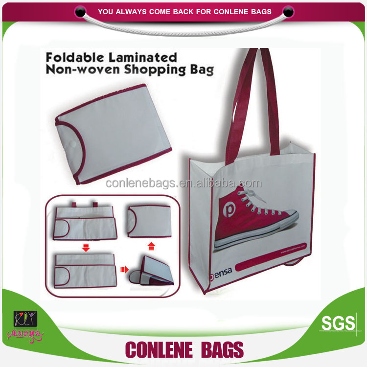 Factory Best Price Laminated Foldable Non Woven Bag Expandable Shopping Bag China Custom Reusable Folding Shopping Bags