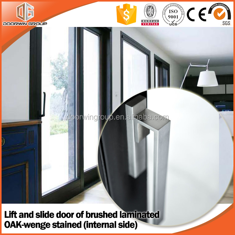 Aluminum Wood sliding safety door and window grill design
