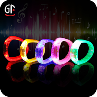 2015 CE RoHS Approved China Wholesale Gift Items Cheapest Price Led Flashing Colorful Plastic Led Bracelet With Logo