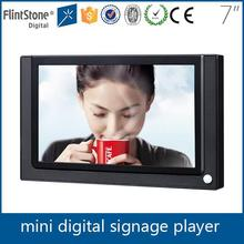flintstone 7 inch motion sensor ad player, usb updated mini digital signage for shoe store