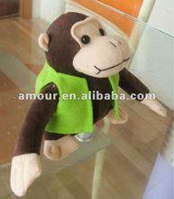 Lovely soft toy dressed monkey stuffed cartoon monkey kids gift new toys for christmas 2013 popular