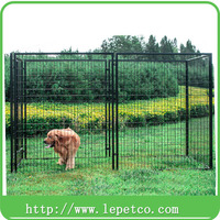 manufacturer wholesale steel frame chain link 5x10x6 ft classic galvanized outdoor dog kennel