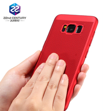 Ultra slim shockproof hard pc plastic material phone cover for samsung s8 case