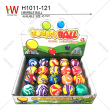 45mm MARBLE BALL BOUNCING BALL promotional items cheap toys present festival gift souvenir 20 IN 1 DISPLAY BOX(H1011-121)