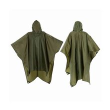 lightweight outdoor green nylon hiker rain poncho