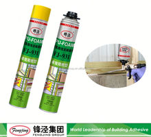 New Arrival 800g white fire proof pu foam sealant with good prices