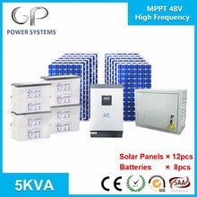 home solar power systems 12v/24v/48v 1kw/2kw/3kw/5kw/8kw/12kw high/low frequnecy inverter and mppt/pwm charge controller china