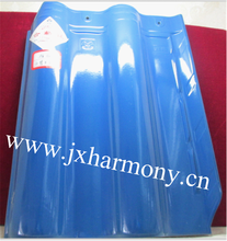 Glazed Blue 300*400MM Clay Interlocking spanish roof tiles for sale