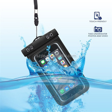 PVC waterproof phone bags for swimming