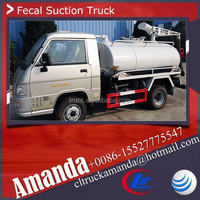 Foton Forland 4*2 small mini vacuum truck model vacuum truck capacity 2000-3000 Liters
