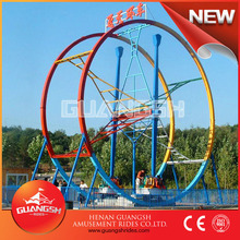 Park thrill games for adults fun 360 degree rotating ferris ring car carnival rides for sale