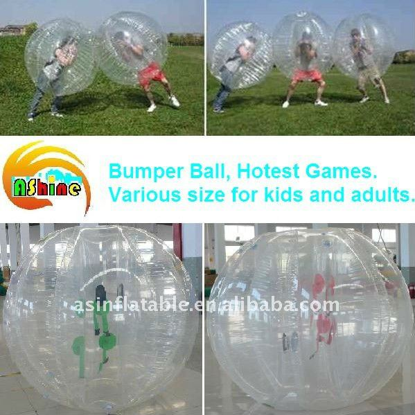 hotest selling adult human bubble inflatable bumper ball
