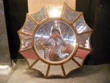 Mirrored Frame Sun Shaped Mirror, Design For Decoration BF02-M280