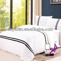 100 cotton white duvet cover/quilt cover with embroidery/logo
