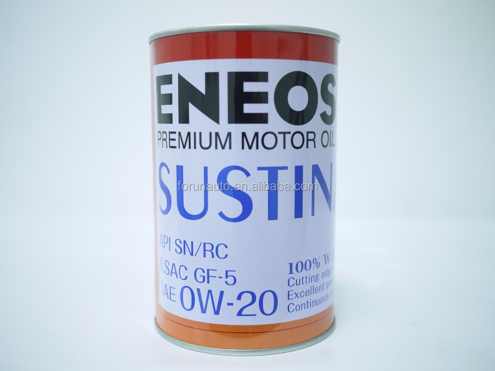 ENEOS SUSTINA PREMIUM MOTOR OIL 0W-20 Full synthetic oil Cylindrical cans