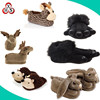 Custom novelty cheap animal shape plush slippers