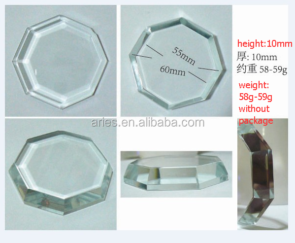 Eyelash Extensions Crystal Glass Stone Glue Holder Pallet from directly factory