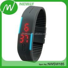 led touch screen colorful PU vogue watch