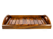 Wooden Crafted Serving Tray Kitchen Decor Pirates Wood Craft Dinner Food Cart