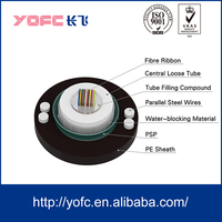 GYDXTW with Copper Wire steel wire Aerial / Duct Optical Fiber Cable fiber ribbon cable