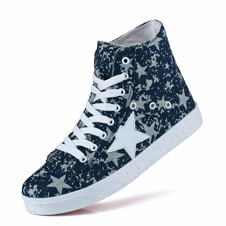 New Arrival Spring autumn breathable Sneakers for men's Canvas Shoes male sport shoes personalized denim high-top Canvas Shoes