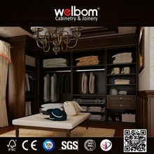 Wall Inside Elegant Wooden Chinese Wardrobe Design