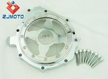 Chrome Window Billet Aluminum Clear See-Through Stator Engine Cover For 2004-2006 CBR1000 RR 2004 2005 2006