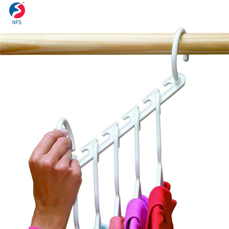 Closet Space for Easy Effortless Wrinkle-free Skirt Space Saving White Plastic Cloth Plastic Hanger