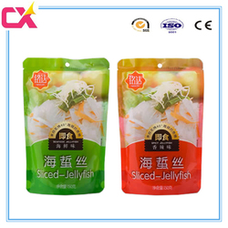 High quality stand up sliced-jellyfish packaging bag/sea food packaging bag