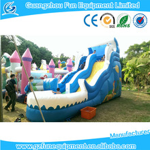 High quality of inflatable blue slide inflatable climb and slide down slide for kids