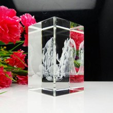 High quality 3d laser crystal crafts within india Ganesh hindu gods statue