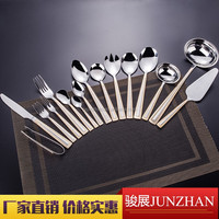 High quality 84pcs cutlery set with wooden case , gift case-- stainless steel material