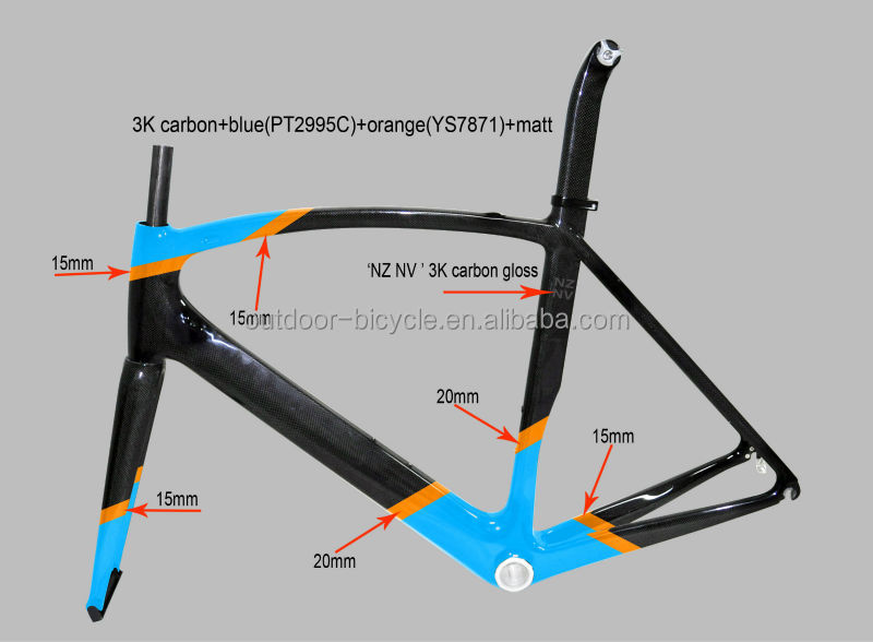 Hot sale racing bicycle aero carbon road frame fm098, SGS test