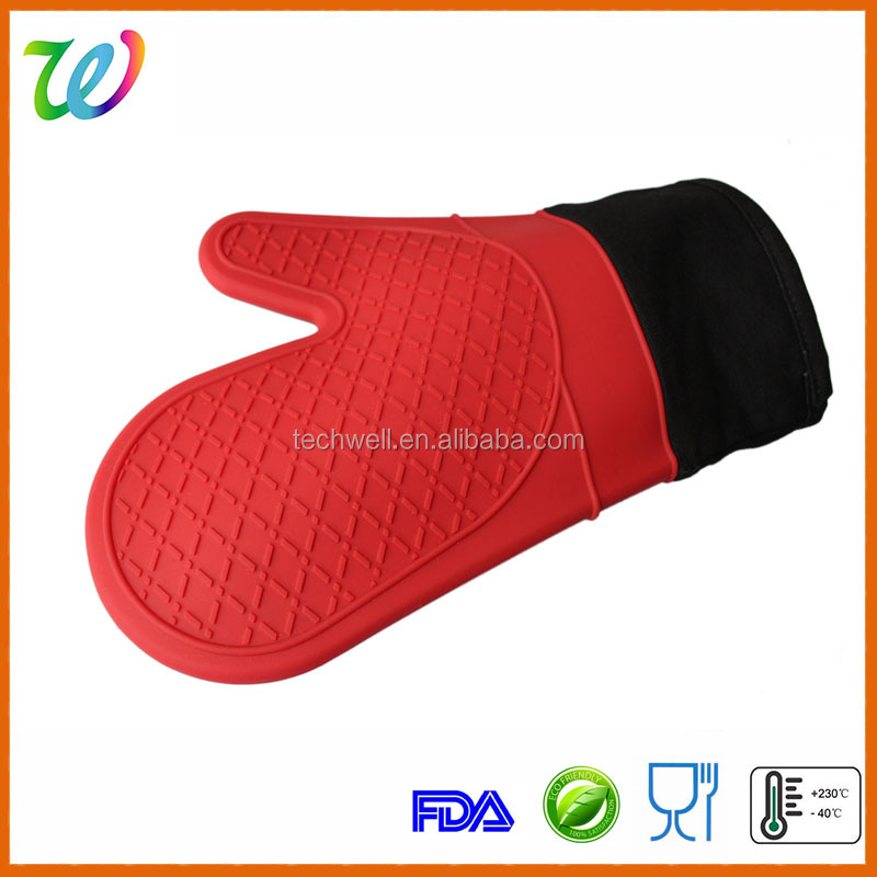 FDA silicone heat gloves for cooking