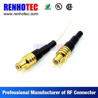 Video and Audio RCA to RCA Coaxial Wire Rope Connectors Custom Cable Assembly
