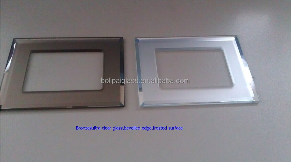Color silkscreen printed modular switch plates indian glass modular switch panel