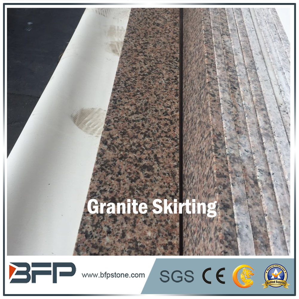 Chinese Cheap G859 Polished Anette Pink Granite Skirting Tile for Border Line and Interior Decoration