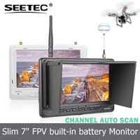 Seetec 7 inch no blue screen 32channel fpv rc lcd monitor high resolution micro helicopter