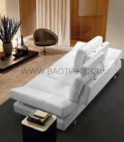 Baotian furniture Hot sell modern leather sofa lounge suite for home