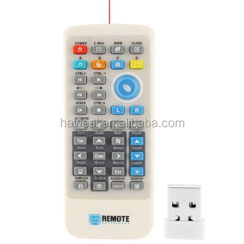 2.4G PC Remote Controller with Laser Pointer