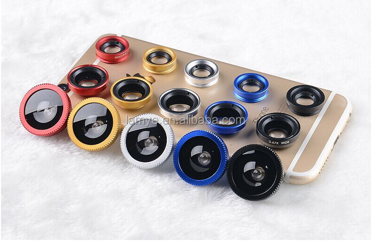 2017 Universal Clip Phone Lens , Macro Wide Angle Fisheye Mobile Camera Lens