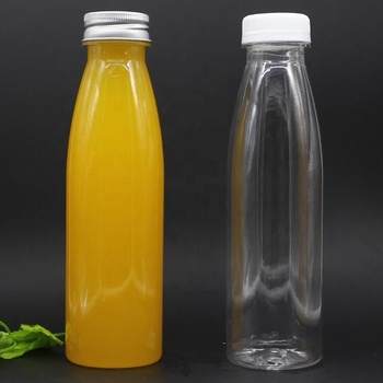 Empty PET plastic fruit juice bottles beverage water container for juice water use