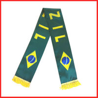 wholesale promational custom football scarf brazil