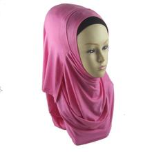 Fashion pure hijab Two faces plain jersey instant shawls islamic muslim arab scarf