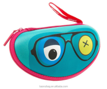 Custom color OEM Soft Box EVA kid glasses case sunglasses case