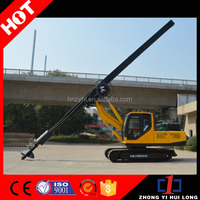China Manufacturer Tracked Pile Driver 10 - 15m Depth Hydraulic Rotary Drilling Rig Machine
