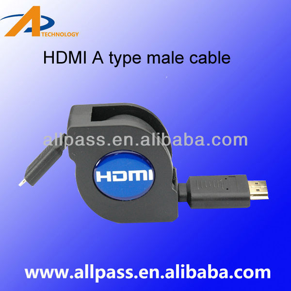 Cable HDMI A Euroconector Flat HDMI Cable 1.4 with Ethernet Support 1080P &3D