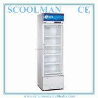 Vertical Single Door Soft Drink Freezer Showcase