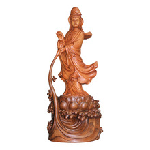 Chinese Avalokitesvara Standing Buddha sculpture Chines Gods GUANYIN statue For Sale