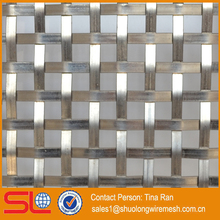 Architectural stainless steel woven flat wire mesh metal fabric XY-2156